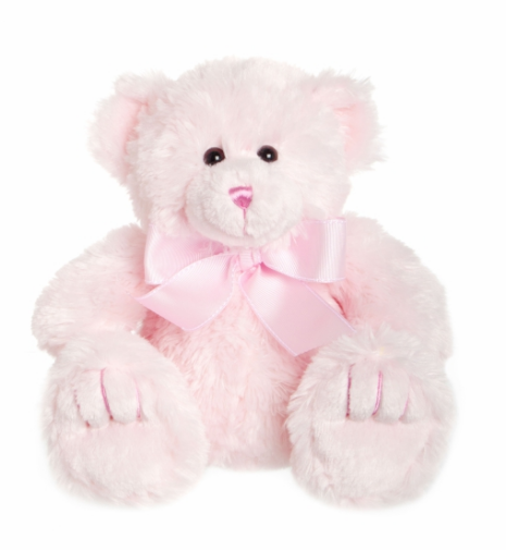 Add pink teddy bear to flower delivery from local Bowral Florist