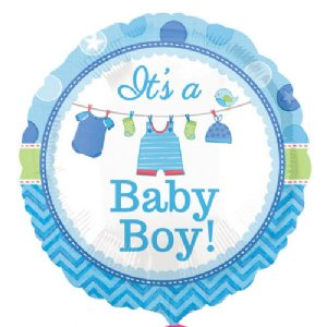 Add baby boy balloon to flower delivery from local Bowral Florist