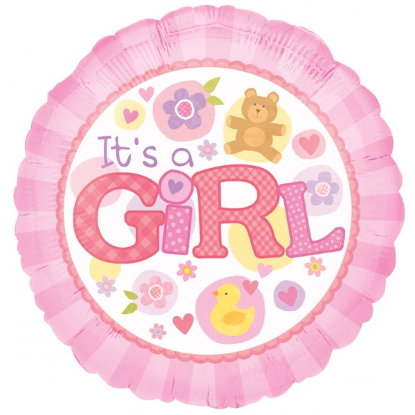 Add baby girl balloon to flower delivery from local Bowral Florist