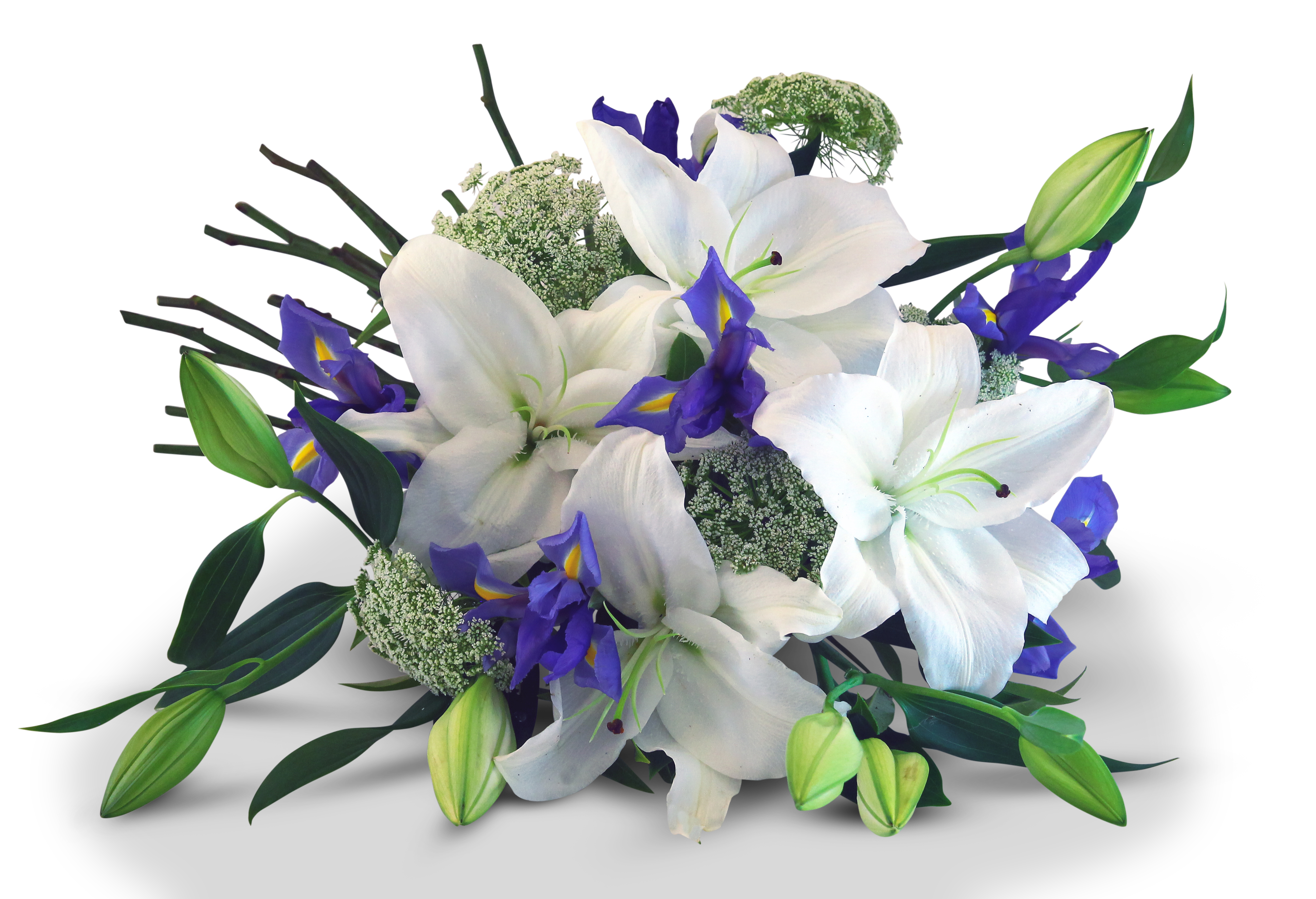 White And Blue Flower Bouquet